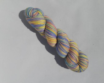 Hand dyed self-striping sock yarn 100g sherbert colourway