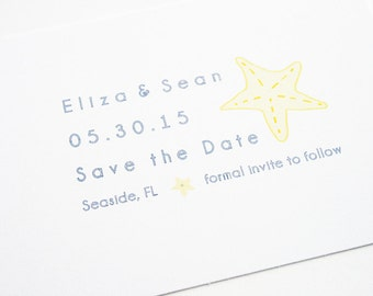 Wedding Save the Date -- The Seashore -- Customizable Set -- CHOOSE YOUR QUANTITY