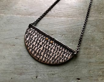 Textured Crescent - Sterling