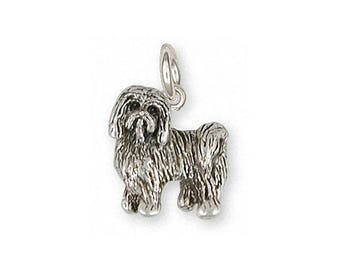 Tibetan Terrier Charm Jewelry Sterling Silver Handmade Dog Charm TTR1-C