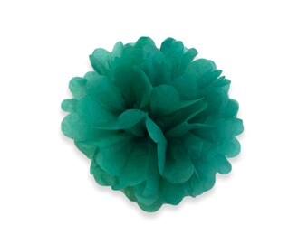 8 Inch Green Tissue Pom Poms - Paper Party Decor Decoration Supplies