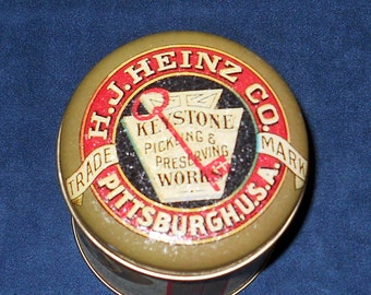 Heinz Pickle Can-Reproduction Advertising Tin