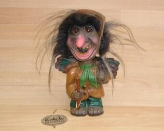 Vint. 70erJ. Wackekopf-Voodoo Joe-troll-gnome figure Wurzelsepp Heico.