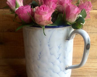Vintage French enamel water jug / irrigator