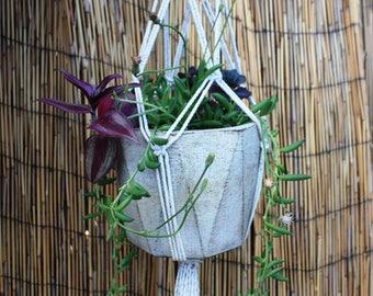 Handmade Macrame Knot Hanging Basket Plant