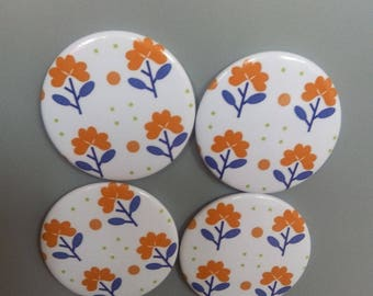 orange flower magnets