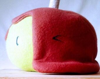 Novelty Caramel Apple Plushie, Plush, Apple, Apple plushie, Apple plush, Carmel, Green Apple