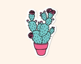 Prickly Pear Cactus Vinyl Sticker
