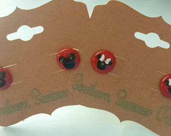 Mickey or Minnie Mouse Earrings.