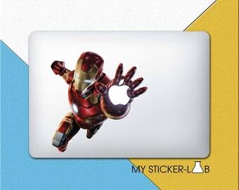 Iron Man MacBook Decal Iron Man MacBook Sticker The Avengers Iron Man Decal Ironman Laptop Decal Marvel Avengers Iron Man Apple Logo bn022