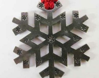 Pewter ~ Snowflake B ~ Holiday Ornament ~ A231OR