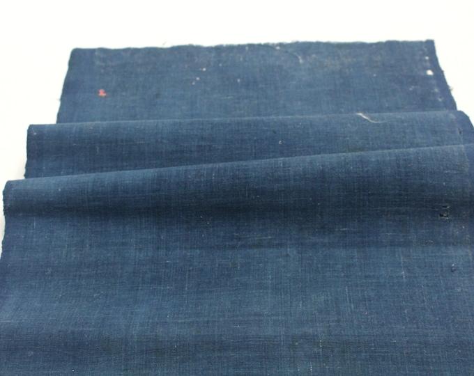 Boro. Japanese Indigo Cotton. Artisan Aizome Boro Textile. Blue Vintage Folk Fabric (Ref: 1323)