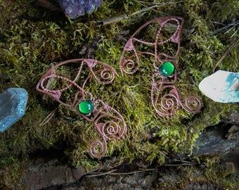 Copper elf cuffs, Fantasy elf ear cuffs, Elven  earrings, Elvish ears, Non-piercing earring,Forest elf ear cuffs, elf ears, sylvan elf
