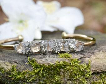 Herkimer Diamond Bracelet, Diamond Jewelry, April Birthstone, Birthstones, Mom Gift, Mothers Day