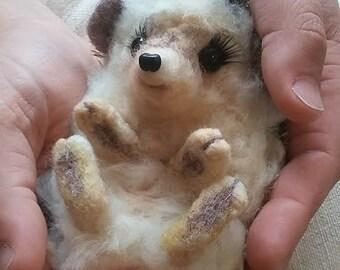 Needle felted Hedgehog 15cm/ pet portrait/ animal/ gift idea