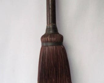 Vintage Fireplace Broom with wooden handle was 74.00