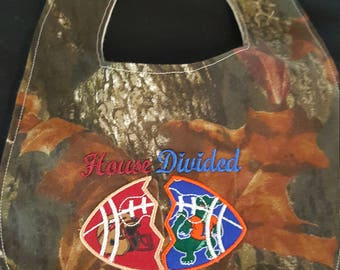 House Divided FSU/UF Inspired Camouflage Custom Baby Bib