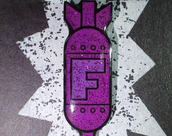 F Bomb enamel pin (Purple Sparkle Edition)