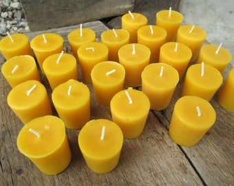 "Beeswax Candles-  Set of 50 votives, 2"" tall"