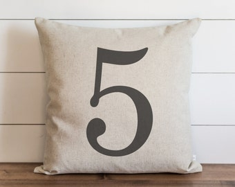 Customized Number 20 x 20 Pillow Cover // Typography // Housewarming Gift // Throw Pillow // Cushion Cover // Gift for them // Accent Pillow