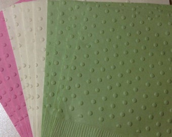 Swiss Dot Napkin ~ Embossed Paper Napkin ~ Wedding ~ Anniversary ~ Birthday ~ Bridal ~ Shower ~ Beverage ~ Luncheon ~ Dinner ~ Guest Towels