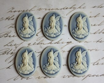 Fairy Cameo Unset Cameo Fairy Pixie Fantasy 25x18mm Cameo Cabochon resin