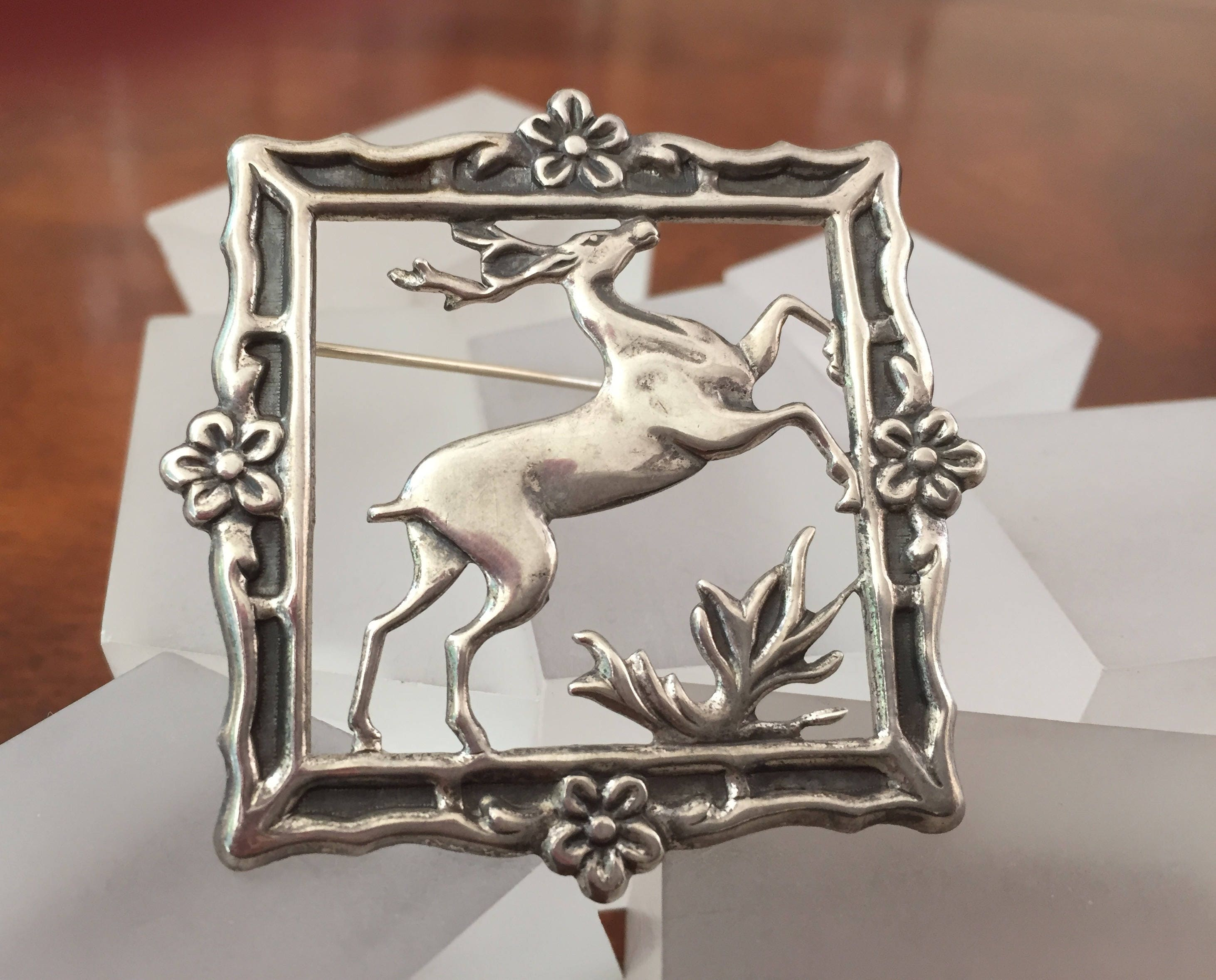 products lady brooch home austria bone jewelry the deer hand pin carved s store