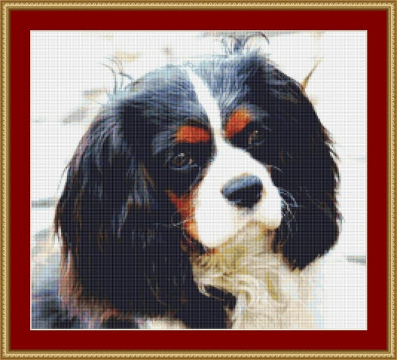 Cavalier King Charles Cross Stitch Pattern /Digital PDF Files /Instant downloadable