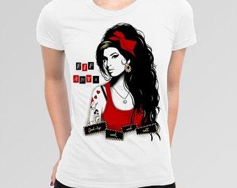 Amy Whinehouse Art T-Shirt, Men's Women's All Sizes