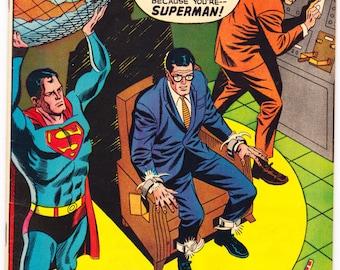 Superman 211 comic, Man of Steel book, Silver Age, Electrocute Superhero, Vintage Neal Adams art. 1968 DC Comics in VF- (7.5)