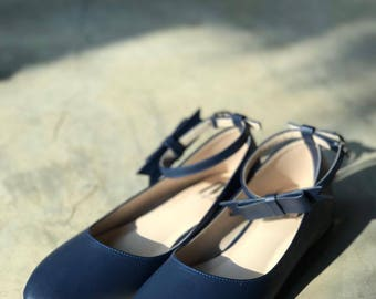 Women Slip On - Pointed Toe flats! (Navy Blue Color)