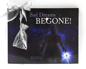 Bad Dreams BEGONE! Children's Book & Gift Set, Kids Bedtime Story with faux worry stone, Bedtime Routine, Afraid of the Dark, Nightmares