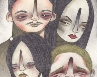 Halloween Series Art Print: Addams Family