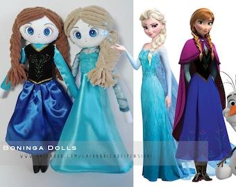 Une poupée de chiffon - Boninga poupées: Frozen «Elsa & Anna