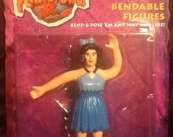The Flintstones Movie Bendable Betty Rubble MOC Mattel 1993 bend ems