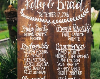 Custom Wood Wedding Program Sign