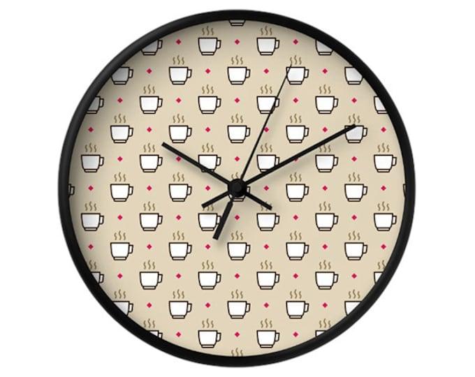Coffee Wall Clock - Icon Prints: Drinks Series