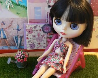 Pink Blythe deckchair for blythe dolls