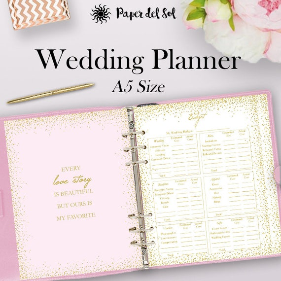 Filofax Wedding Planner Printable A Wedding Planner Binder