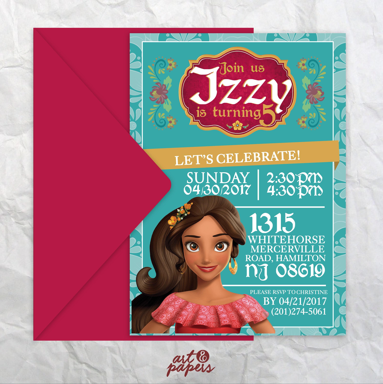 Printable Birthday Invitation Princess Party Elena of