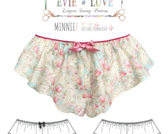 DIGITAL Lingerie Sewing Pattern - Minnie Flared Tap Pants - pdf  instant download E2011 from EVIE la LUVE