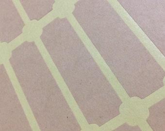 Frame Address Label Sticker  Kraft Brown Circle, Packaging, Sealing Envelope, Scrapbooking 35pc
