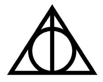 Harry Potter Deathly Hallows Symbol Vinyl Decal Sticker