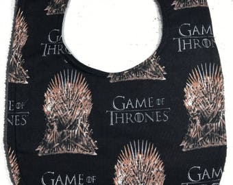 Game of Thrones Baby Bib - infant bib - dribble bib - Geek Baby Shower Gift - geek Handmade - game of Thrones