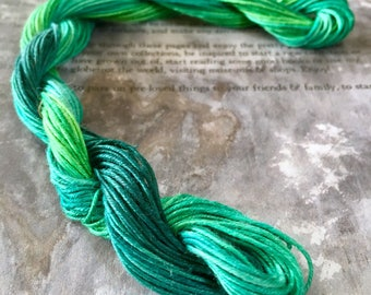Linen Thread for Bookbinding, Crochet, Macrame and Needlecraft hand dyed by Spiraldyed 20 meters