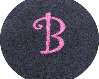 Custom 4ft Initial Monogram Personalized Carpet Rug...You choose shape & colors