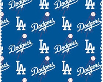 "LA Dodgers Cotton Fabric 60"" wide - 1  1/2 yards"