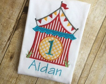 Big Top Circus Carnival Birthday Shirt Outfit