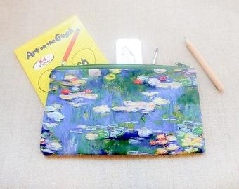 Make Up Bag/ Artist Gift/ Best Friend Gift/ Mothers Day Gift/ Pencil Case/ Teacher Gift/ Gift for Her/ Gift for Mom/ Gift for Women/ Pouch