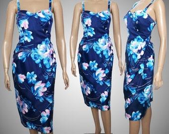 Vintage 1960s Dress   Hawiian Dress   Floral Dress   Sarong Dress   Hourglass Dress   Wiggle Dress   Hawaii Sundress   60s Dress   Designer
